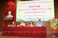 Đại biểu Quốc hội TP Hà Nội tiếp xúc với cử tri đơn vị bầu cử số 8 trước kỳ họp thứ Hai