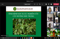 """Seminar khoa học tuần 39 – Nhóm nghiên cứu mạnh """"Nghiên cứu cây trồng thích ứng với biến đổi khí hậu"""