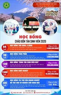 Học viện Nông nghiệp Việt Nam dành hàng nghìn suất học bổng chào đón tân sinh viên K65