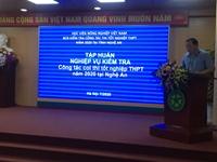 Tập huấn nghiệp vụ kiểm tra Công tác coi thi tốt nghiệp THPT năm 2020 tại Nghệ An