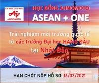 Học bổng Ajinomoto Asean+One dành cho sinh viên quốc tế của Tập đoàn Ajinomoto