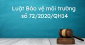LUẬT BẢO VỆ MÔI TRƯỜNG 2020