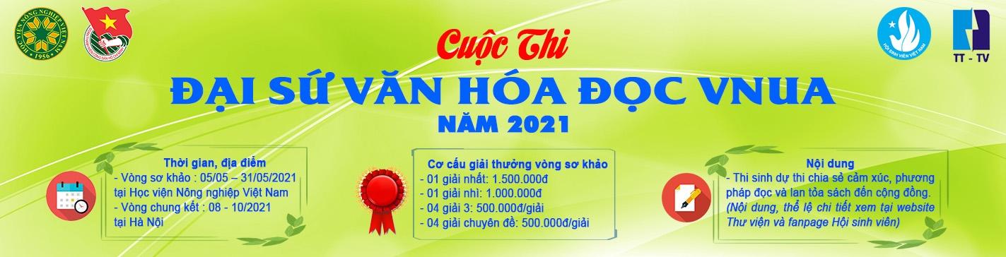 Cuộc thi  Đại sứ văn hóa đọc vnua 2021
