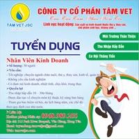 Công ty cổ phần Tâm Vet thông báo tuyển dụng