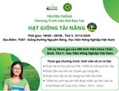 Chương trình truyền thông HẠT GIỐNG TÀI NĂNG của Công ty Green Feed