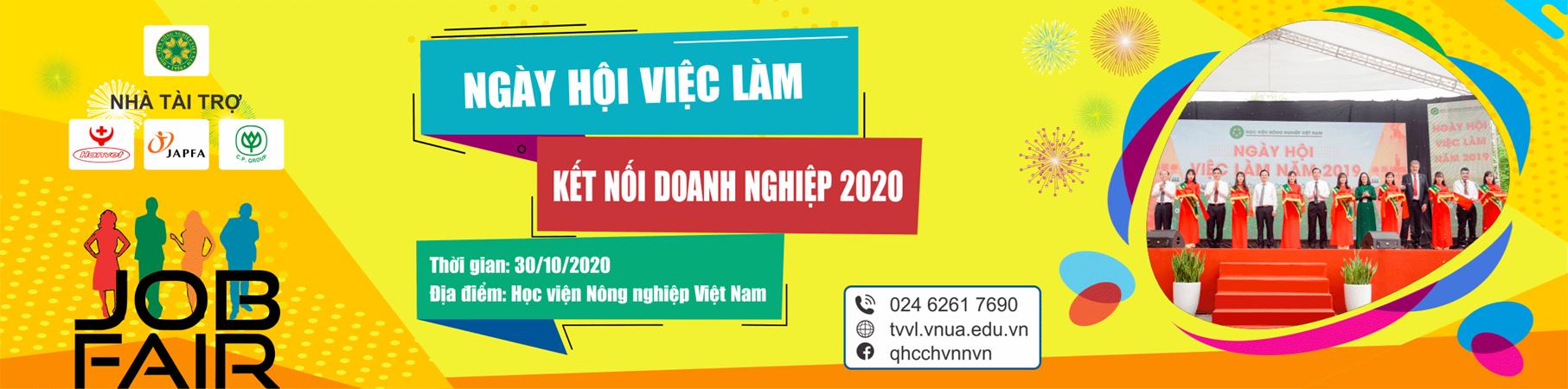 Thông báo Ngày hội việc làm năm 2020 của Học viện Nông nghiệp Việt Nam
