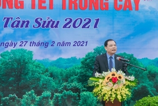 Ceremony of Planting Tree in celebration of Tan Suu Lunar New Year 2021 and supporting the calling for the 1 billion Tree Program in the period of 2021-2025