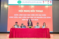 Dialogue between leaders and students of Vietnam National University of Agriculture