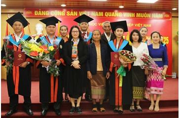 Training activities - graduation ceremony